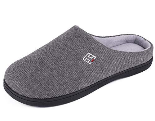 HomeIdeas Men's and Women's Classic Memory Foam Slip on House Slippers, Summer Winter Cozy...