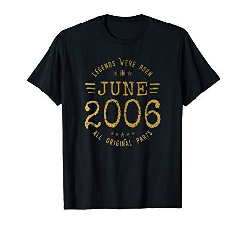 15 Anni Compleanno - Le Leggende Sono Nate nel Giugno 2006 Maglietta