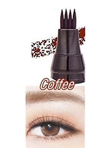 4 Colors Eyebrow Pencil Brown Black Grey Brush Cosmetics Pen 4 Fork Tips Fine Sketch Liquid Waterproof Eyebrow Pencil Tint Tslm1,01 Coffee,China