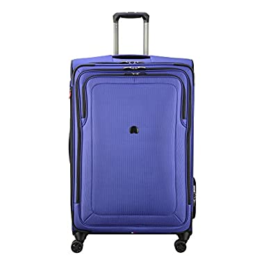 Delsey Luggage Cruise Lite Softside 29  Exp. Spinner Suiter Trolley, Blue