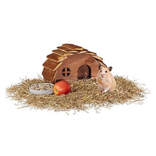Relaxdays - Casa de hámster de Madera, con Suelo, casa para roedores...