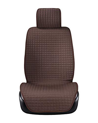 Sitzbezug Einzelsitzbezug Universal Sitzbezüge für Auto Schonbezug Dunkel Kaffee 1 Stück
