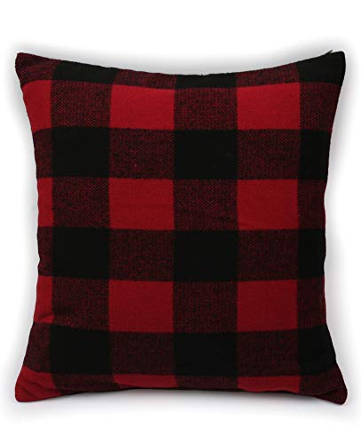 Ruth&Boaz Inka Pattern Square Decor Pillow Case Cushion Cover (O-Red, 18\'x18\')