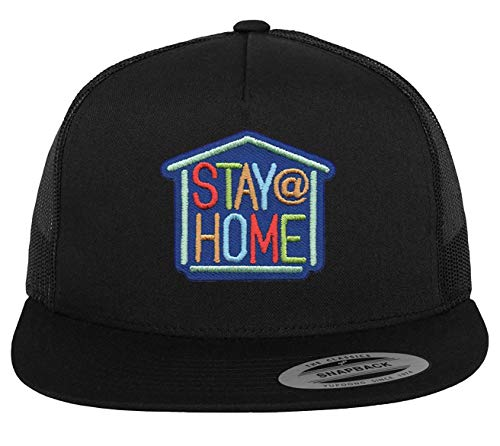 Stay At Home Hat - Adjustable Black Snapback Cap Coronavirus Awareness