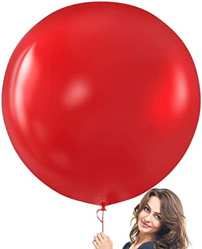 Prextex Red Giant Balloons 8 Jumbo 36 Inch Red Balloons for Photo Shoot Wedding Baby Shower product image