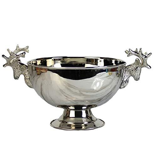 YZBT-ice bucket Europäisch Sektkühler, Edelstahl Weinkühler Party Champagner-Eimer Bowl Groß Getränkewanne Bierfass Eiseimer Eisweinbehälter (Size : 31x20cm(12x8inch))