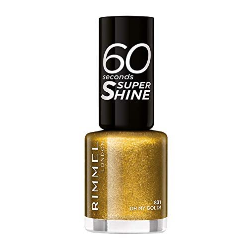Rimmel 60 Seconds Glitter Nagellack, Oh My Gold