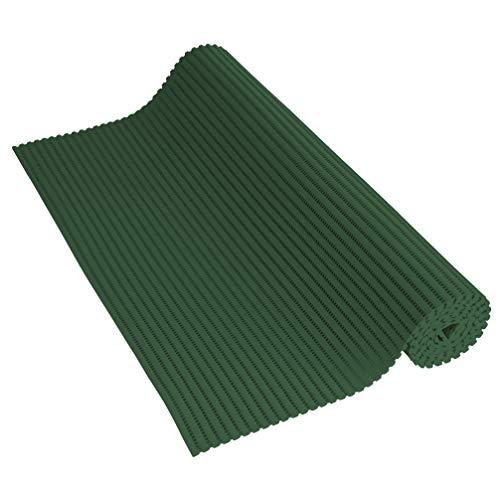 Venilia Weichschaummatte Venisoft Uni dunkelgrün, rutschfester Bodenbelag, Duschmatte, Badewannenvorleger, Anti-Rutschmatte, PVC-Polyester, 65 x 200 cm, 56802
