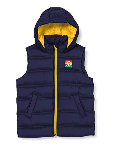 United Colors of Benetton Jungen Gilet Jacke, Peacoat 252, XL