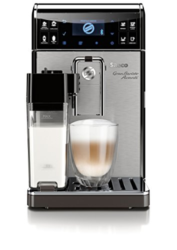 Saeco HD8967/01 GranBaristo (Avanti Kaffeevollautomat, Appsteuerung, integrierte Milchkaraffe) silber