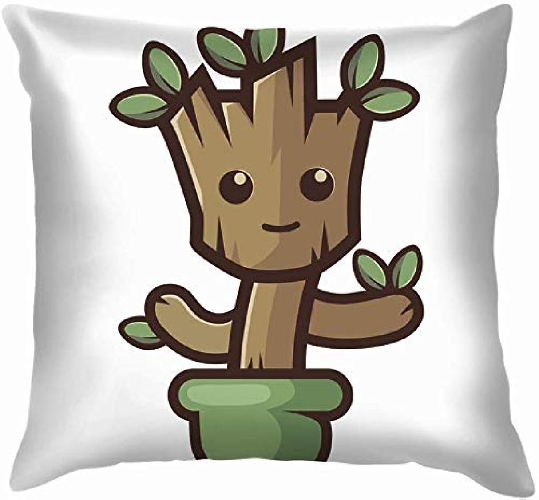 愛国的な確かに侵入する孤立したツリーギャラクシー自然投球枕カバーホームソファクッションカバー枕カバーギフト45x45 cm