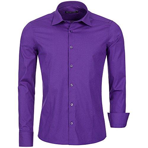 Redbridge Red Bridge Men's Shirt R-2111 Camisa, Violeta, 2XL para Hombre