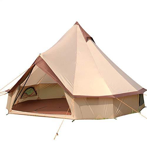 Mongolei Jurte Zelte, Baumwollsegeltuch-Yurt Große Glocke Zelt 8-10 Person, leicht zu bedienen und transportieren, einfach die Aussicht zu genießen und halten Safe - für Outdoor, Camping, Jagd