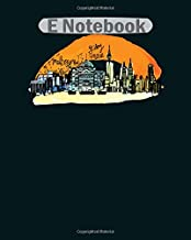 E Notebook: melbourne gday mate  College Ruled - 50 sheets, 100 pages - 8 x 10 inches