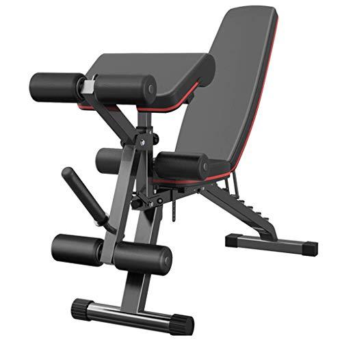 BATOWE Hantelbank Multifunktions-Start Folding Fitness Stuhl Bank Presse Sit-up Brettsportausrüstung (Size : 163x40x111cm)