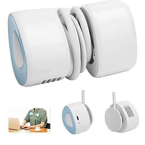 Zhat Ventilador de Cuello, Ventilador silencioso en Forma de Gota de Agua para Viajes para el hogar para Dormitorio para Oficina