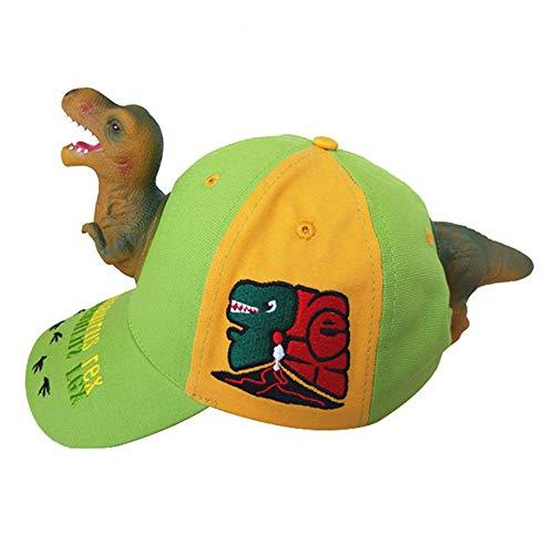 Coralup - Gorras de dinosaurio para niños y niñas, diseño de dibujos animados