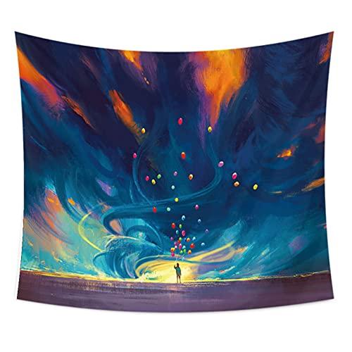 NHhuai Tapiz de Fractal para Dormitorio Sala de Estar Tapiz, Cielo Estrellado, fantasía