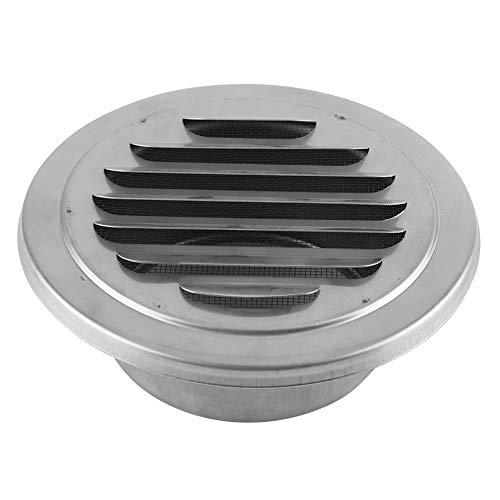 Ventilación de aire redonda, ventilación de aire de pared de acero inoxidable de 5.7 pulgadas Rejilla plana Conductos Ventilación Cubierta Salida Insecto Malla para baño Oficina Cocina Ventilación