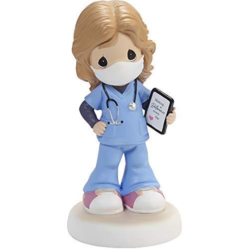 Precious Moments Girl Healthcare Worker Figurine, Light Skin