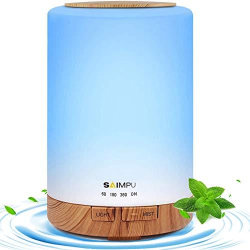 Essential Oil Diffuser- 300ml Aroma Diffuser Humidifier, Anion Air Diffuser...