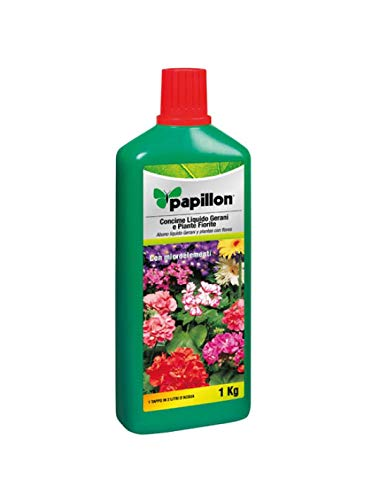 Papillon 8025001 Concime Liquido Papillon Geranios/Fiori, 1 Kg