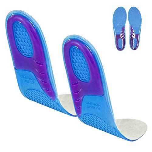Envelop Gel Insoles - Shoe Inserts for Walking  Running  Hiking - Full Length Orthotics for Men  Women - Cushion Soles for Heels  Arch Support  Plantar Fasciitis  Massaging Flat Feet - Fits Work Boots