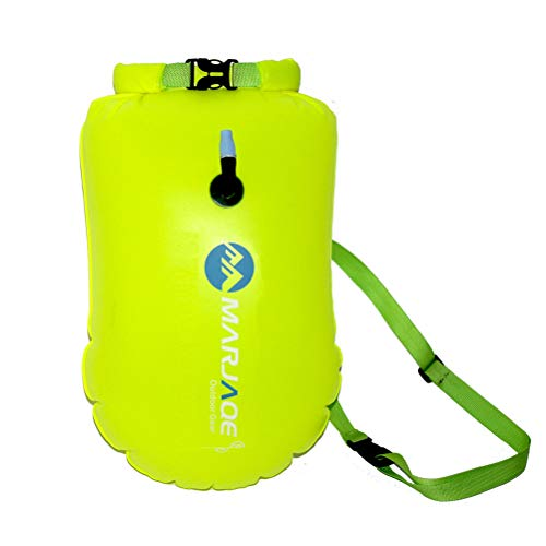 Naduew PVC Boya Packsack, 20L Mochila Impermeable Bolsa Seca para natación Salvaje Kayak Pesca Surf