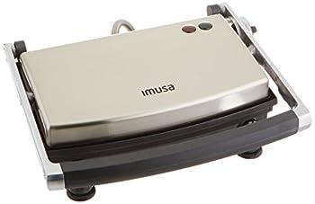 IMUSA USA GAU-80103 Electric Stainless Steel Panini Maker Silver,Large