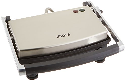 IMUSA USA GAU-80103 Electric Stainless Steel Panini Maker, Silver,Large