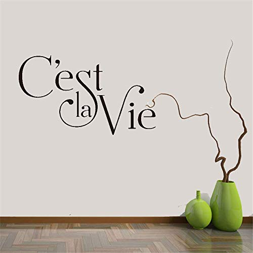 adesivo murale peter pan adesivo murale albero d'estate Wall Decal Quote French Quote Ç'Est Vie For Bedroom Living Room