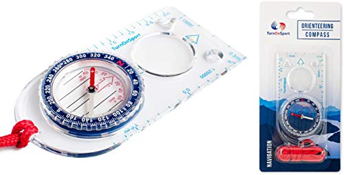Orienteering Compass - Boy Scout Compass Kids - Hiking Compass Waterproof - Map Compass for Orienteering - Navigation Compass Boy Scout Survival Kit - Compass Backpacking Camping Motoring (Blue)