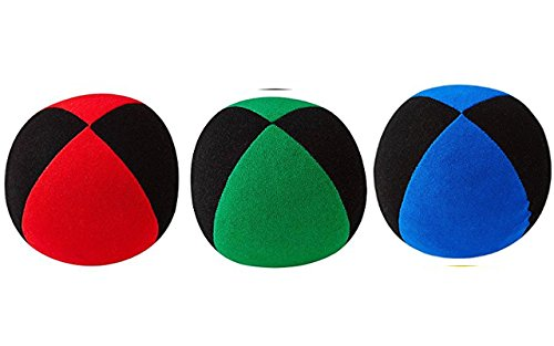 DiaboloNet Henrys Jonglierbälle Superior Medium rot-schwarz grün-schwarz blau-schwarz