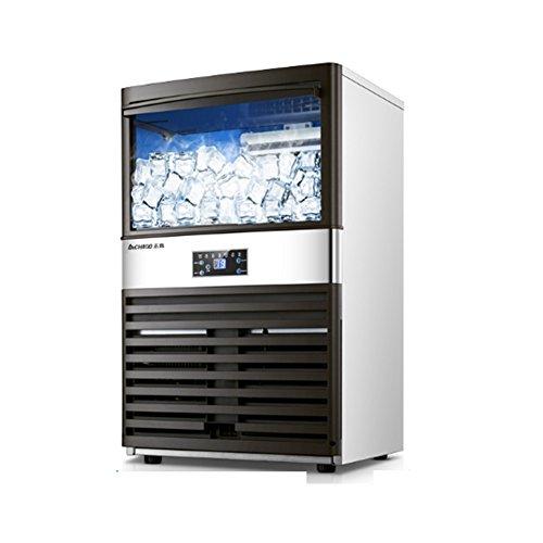 NAN Eismaschine • 430 W • 100 Kg/Tag • 20 Kg Speicherraum • Effektives Kühlsystem • ABS • Schwarz Eismaschine