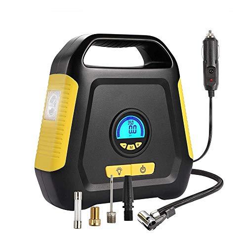 Autoluftpumpen Für Fahrrad Luftverdichter-Gummireifen - Elektro-Auto-Pumpe 12V DC bewegliche Luftkompressorpumpe Digital-Gummireifen-Auto-Reifen-Pumpe, Notfall-LED-Beleuchtung, verwendete in Auto, Fah