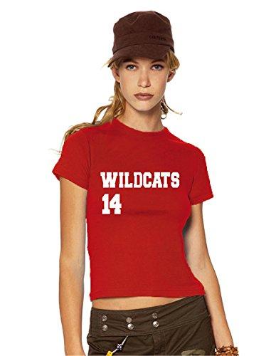 HSM 1/2/3 Wildcats 14 Ladies/Women's T-Shirt Fanshirt, S