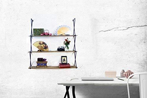 "AVIGNON HOME Rustic Floating Wood Shelves 3-Tier Wall Mount Hanging Shelves Book Shelves Industrial Wood Book Shelves Storage, Display & Decor for Bedroom, Living Room, Kitchen, Office 39"" Wide"
