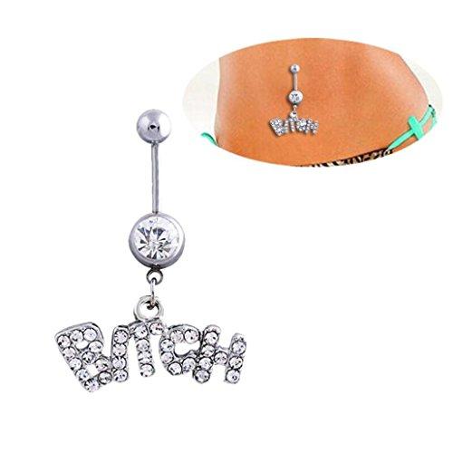 Button piercing ombelico anello, cristallo 1PC Body piercing gioielli ombelico bar