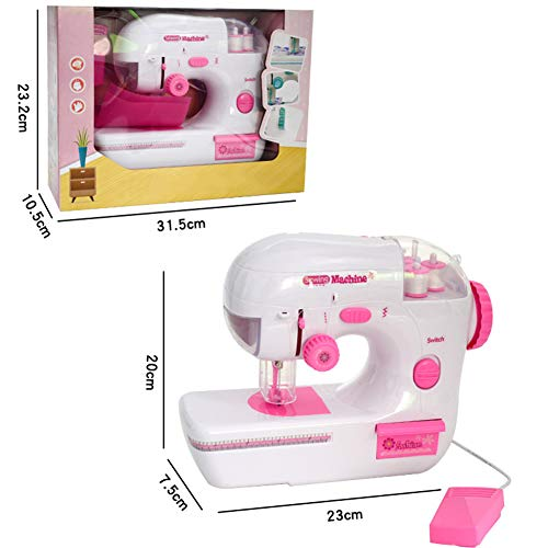 Save %24 Now! LoveHouse Kids Sewing Machine,Mini Electric Crafting Mending Machine,Portable Sewing M...