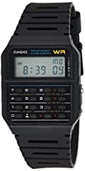 """8-Digit Calculator; Constants for addition, subtraction, multiplication and division Water Resistant 1/100 second stopwatch; Measuring capacity: 23:59'59.99""""; Measuring modes: Elapsed time, split time, 1st-2nd place times Auto Calendar (pre-programme..."""