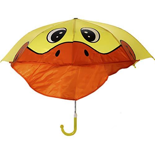 Bada Bing Regenschirm Ente Gelb Tiermotiv Kinderschirm Ca. Ø 73 cm Schirm Automatik Kinder Kindermotiv Trend 41