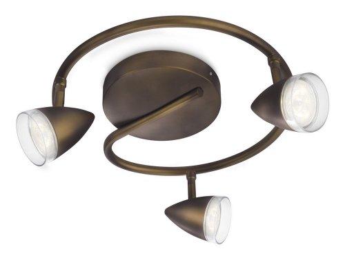Philips Lighting Maple Barra Spirale 3 Spot LED Bronzo 3 x 3W