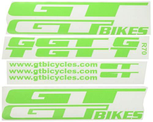 Ecoshirt 6P-GCEN-JSEQ Pegatinas GT Bikes R70 Stickers Aufkleber Decals Autocollants Adesivi, Verde
