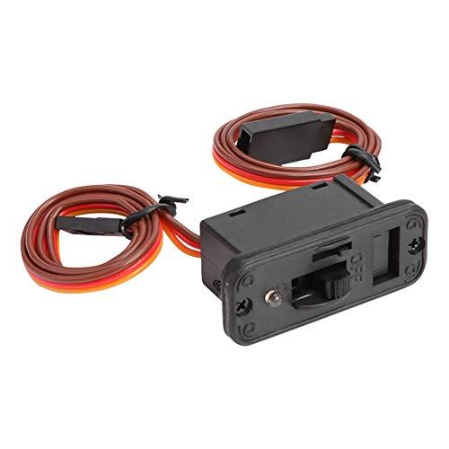 YLHXYPP Duradero 1 UNID RC Conector de Interruptor de automóvil Conectores LED de 3 vías ON/Off Interruptor de Encendido Accesorio para Receptor RC Accesorios