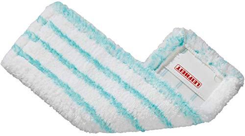 Leifheit Profi Micro duo ruitenwisserovertrek van microvezel met speciale boren, absorberende en goed schoon te maken vloerwisser, reserveovertrek voor gladde vloeren