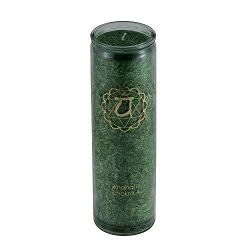 aqasha® Duft-Kerze im Glas | Herz-Chakra | Lavendel, Orange, Mandarine & ätherische Öle | Fair-Trade Stearin Palmöl | Brenndauer ca. 100 Stunden