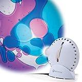 Mathmos Space Projektor in Weiß mit Lavalampen Effekt Violett/Blau