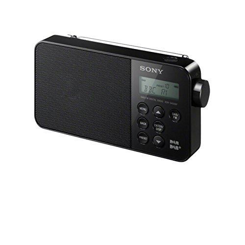 Sony XDR-S40DBPB Retro-Look Digital Radio (DAB+/UKW-Tuner) schwarz