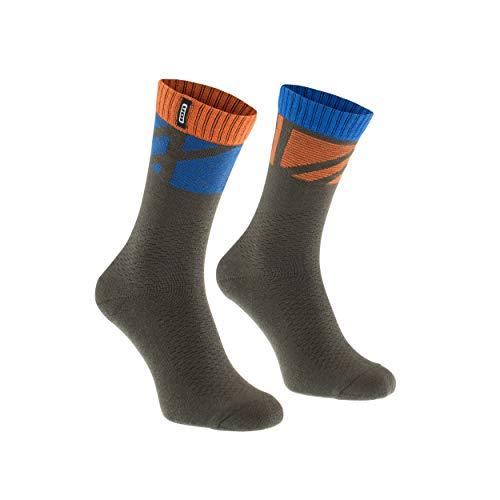 Ion Traze Fahrrad Socken braun/orange 2021: Größe: 39-42