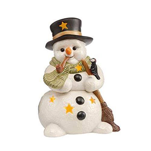 Goebel XM S Lichterzeit im Winter Weihnachten Schneemänner Bunt Steingut 66703331